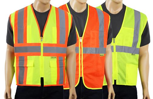 Mesh safety vests test