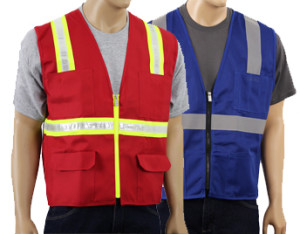 colored safety vests page