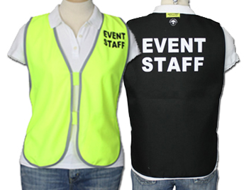 Event staff safety vests