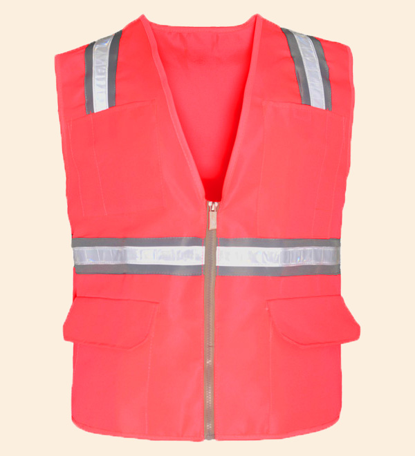 Reflective Safety Vest With Pockets Working Clothes Jacket Mens Cargo Work Vest Multi Pockets Logo Printing A Wide Selection Of Colours And Designs Safety Clothing